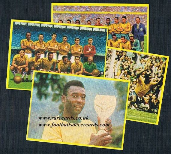 1980s 4 Pele Danone stickers from SPAIN